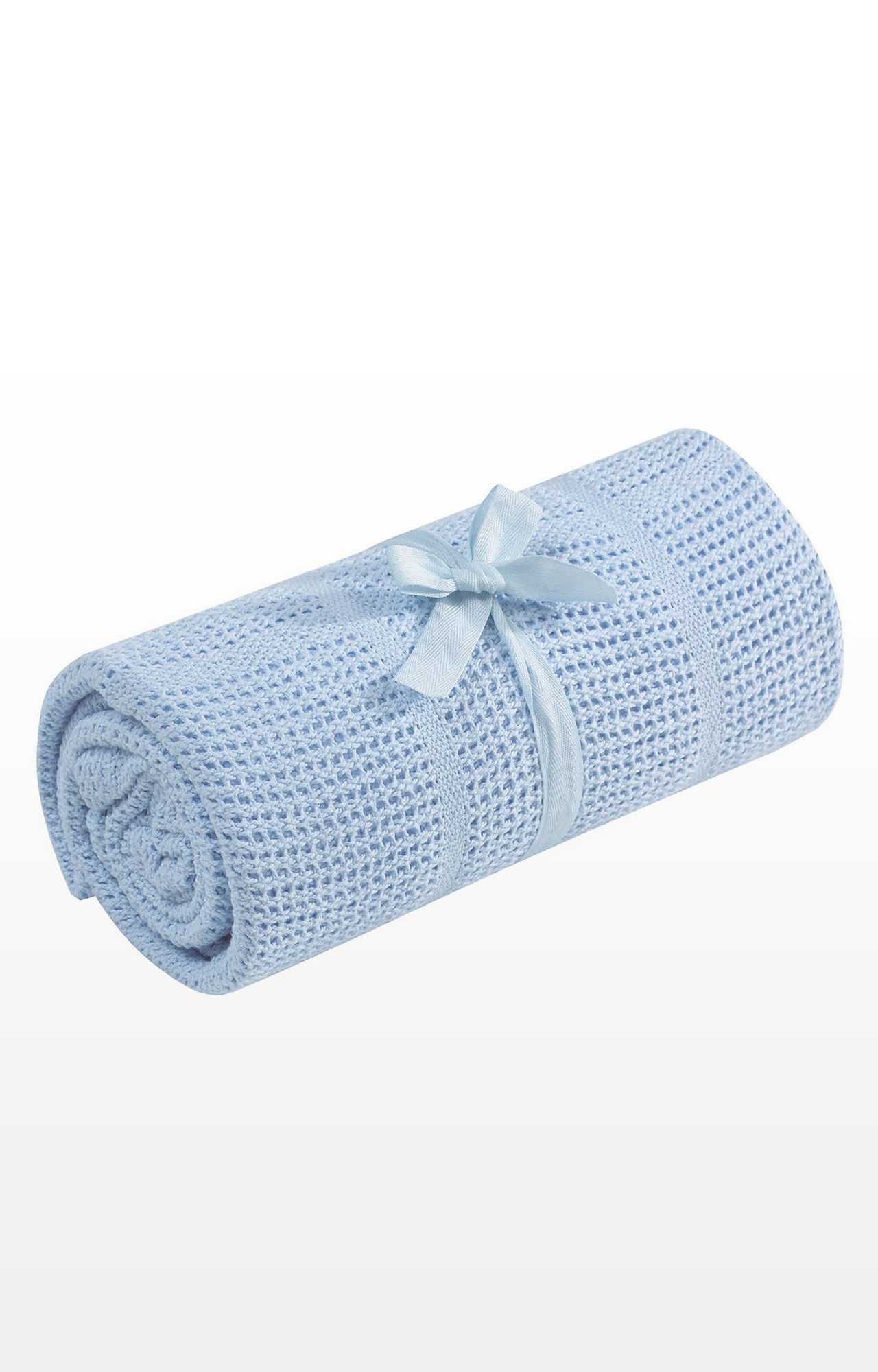 Mothercare | Blue Cot Or Cot Bed Cellular Cotton Blanket