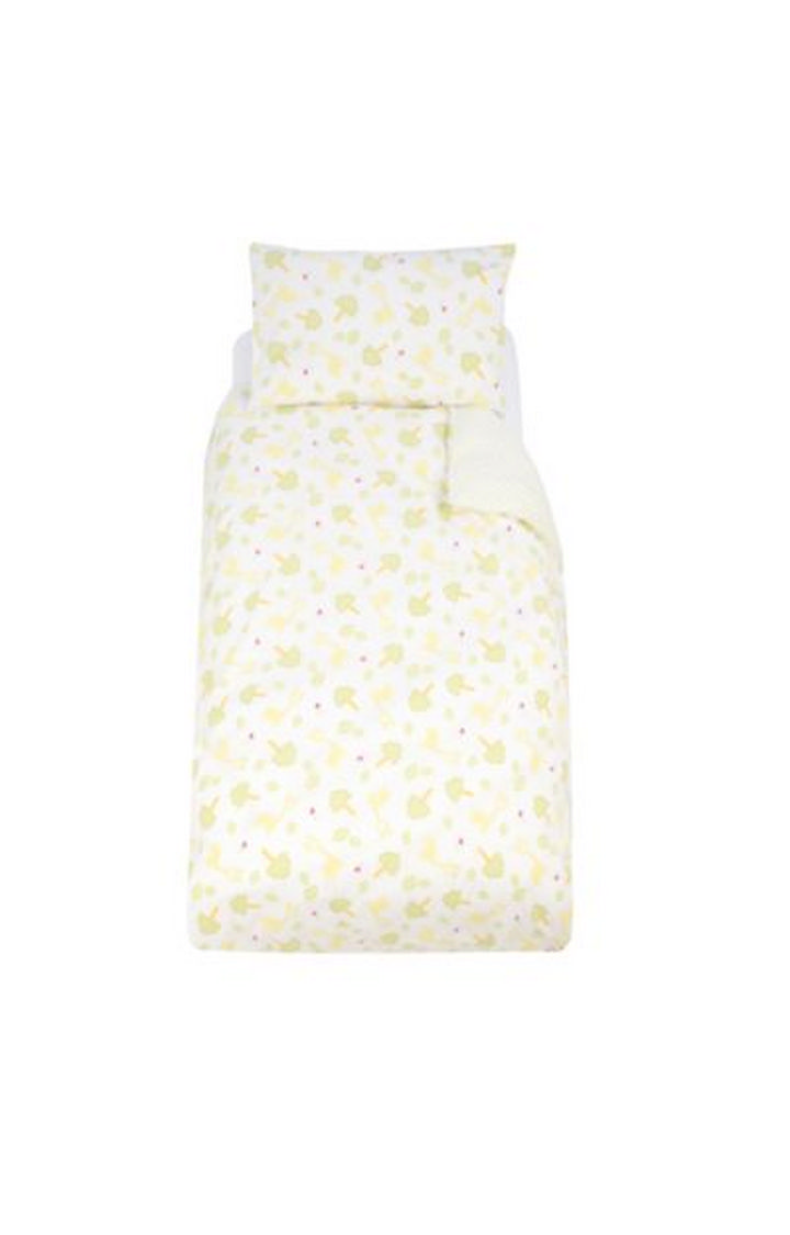 Mothercare   Yellow Printed Quilt and Pillow Cover Set