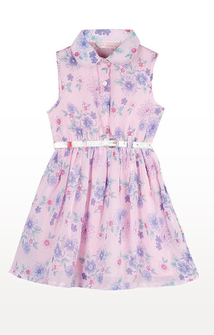 Budding Bees | Pink Printed Dress