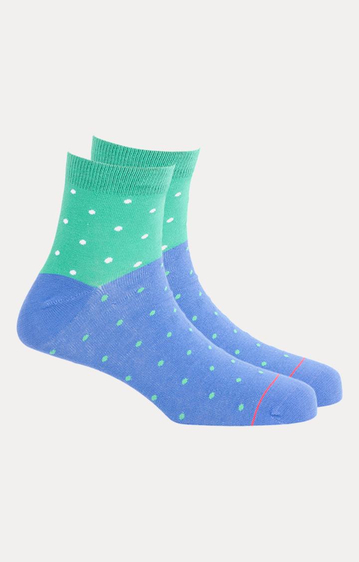 Soxytoes   Green and Blue Printed Socks