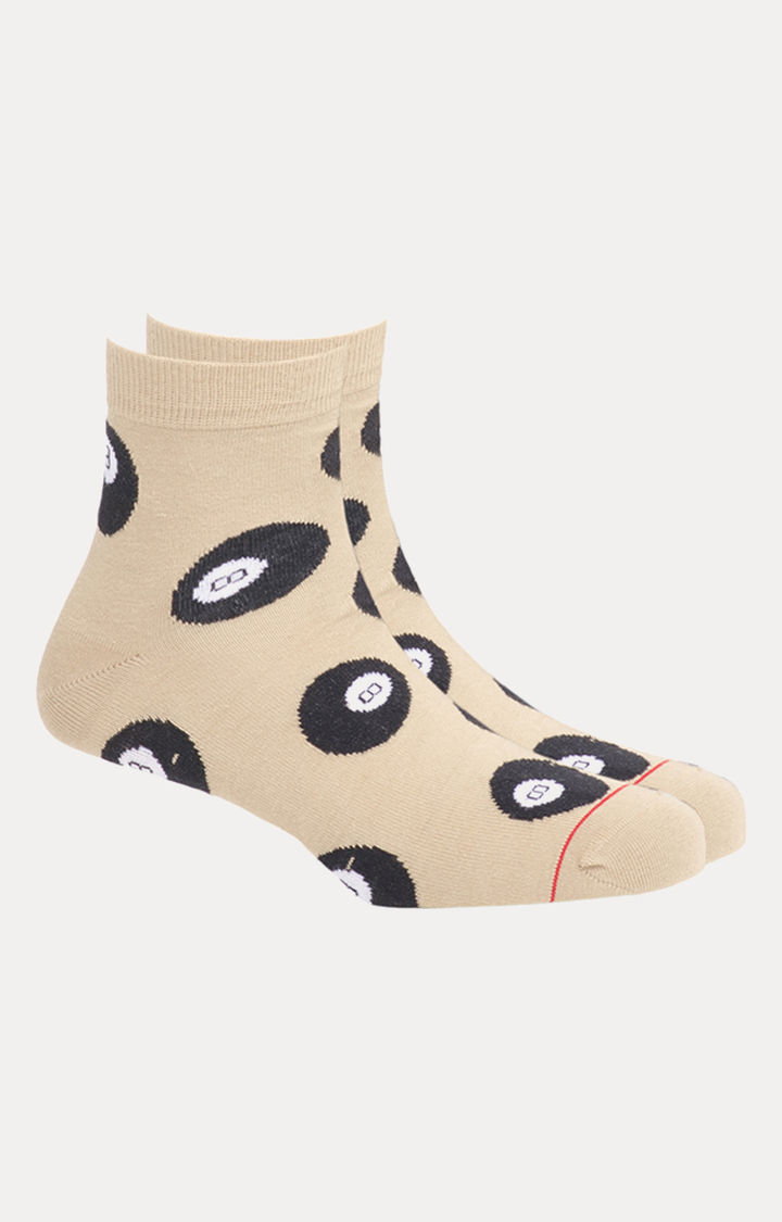 Soxytoes   Beige Printed Socks