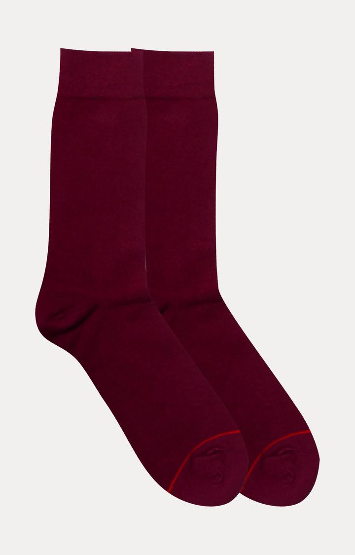 Soxytoes   Maroon Solid Socks