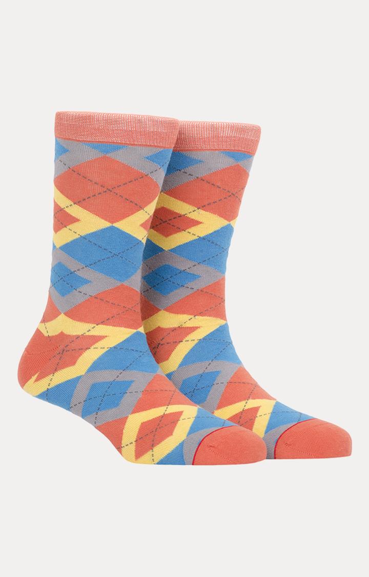 Soxytoes   Multicoloured Checked Socks