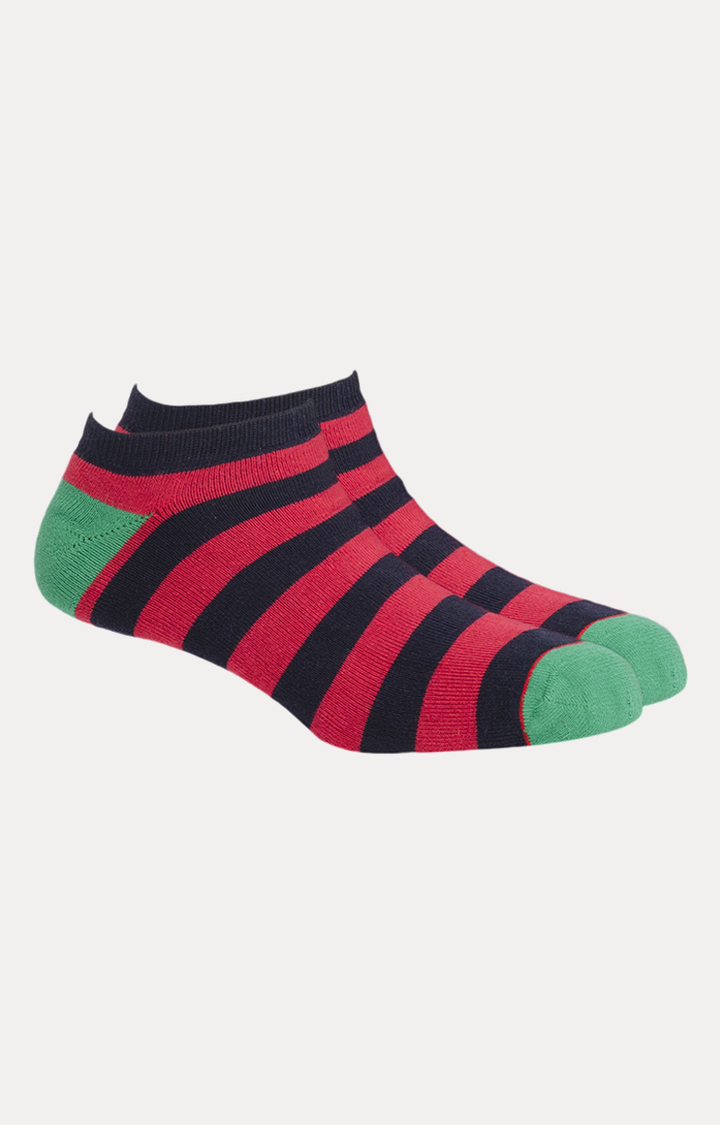Soxytoes   Red and Black Striped Socks