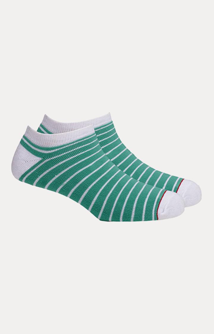 Soxytoes   Green Striped Socks