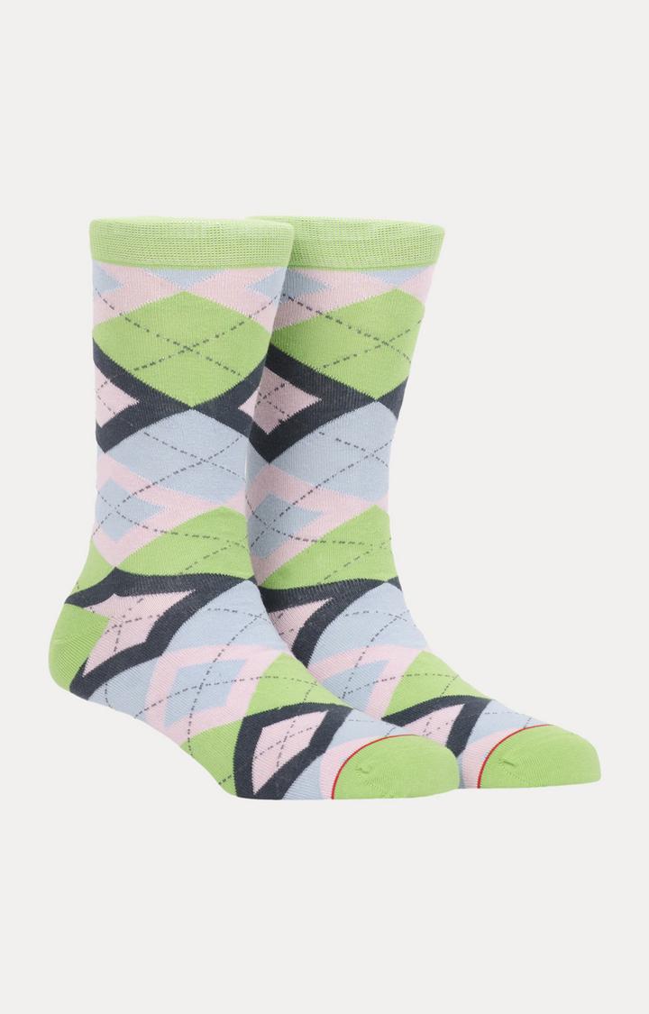 Soxytoes   Green Checked Socks