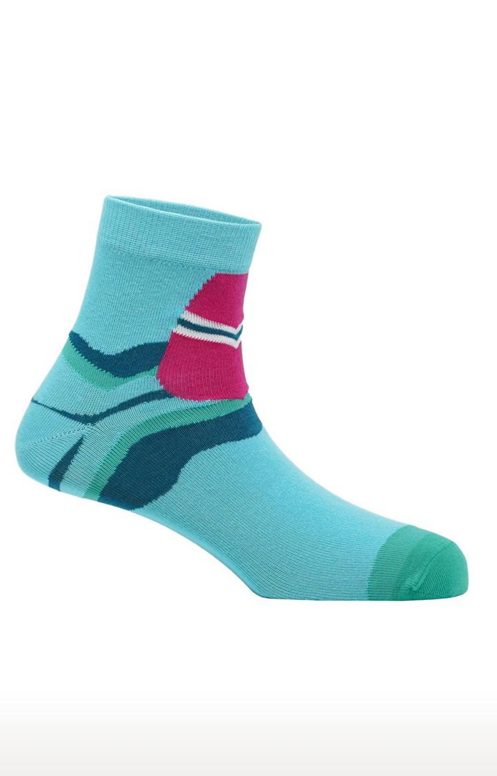 Soxytoes | Surfers Paradise Unisex Light Blue Free Size Cotton Socks