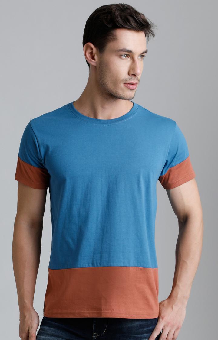 Dillinger   Turquoise Colourblock T-Shirt
