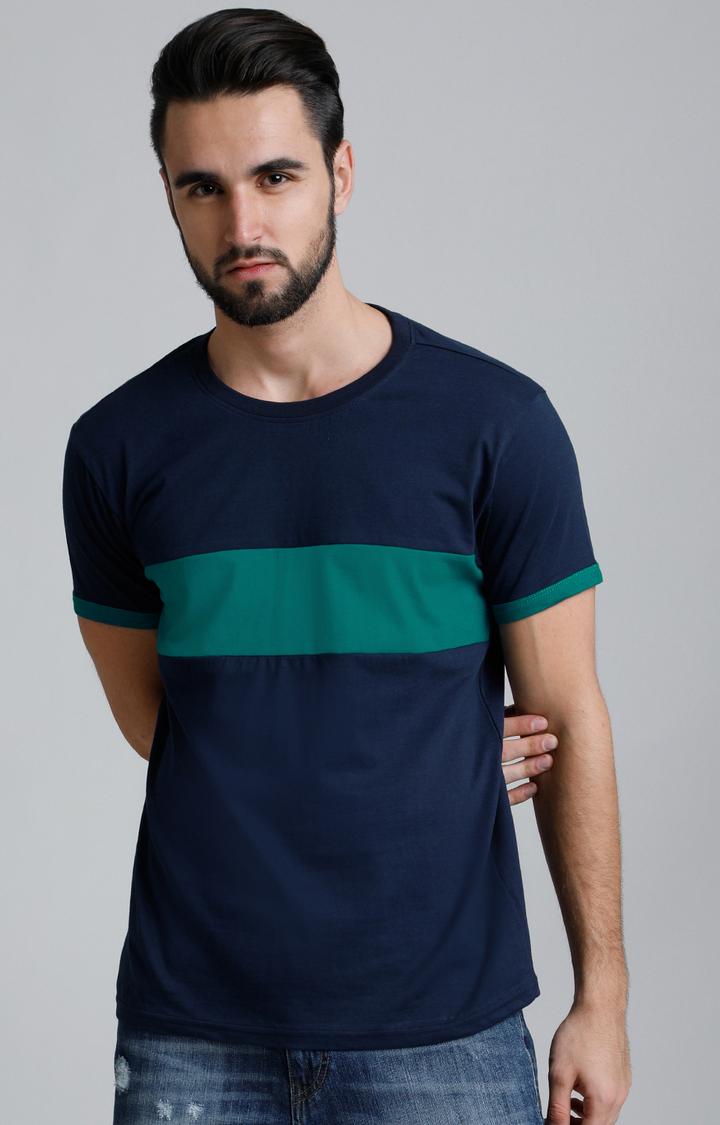 Dillinger | Navy Blue Colourblock T-Shirt