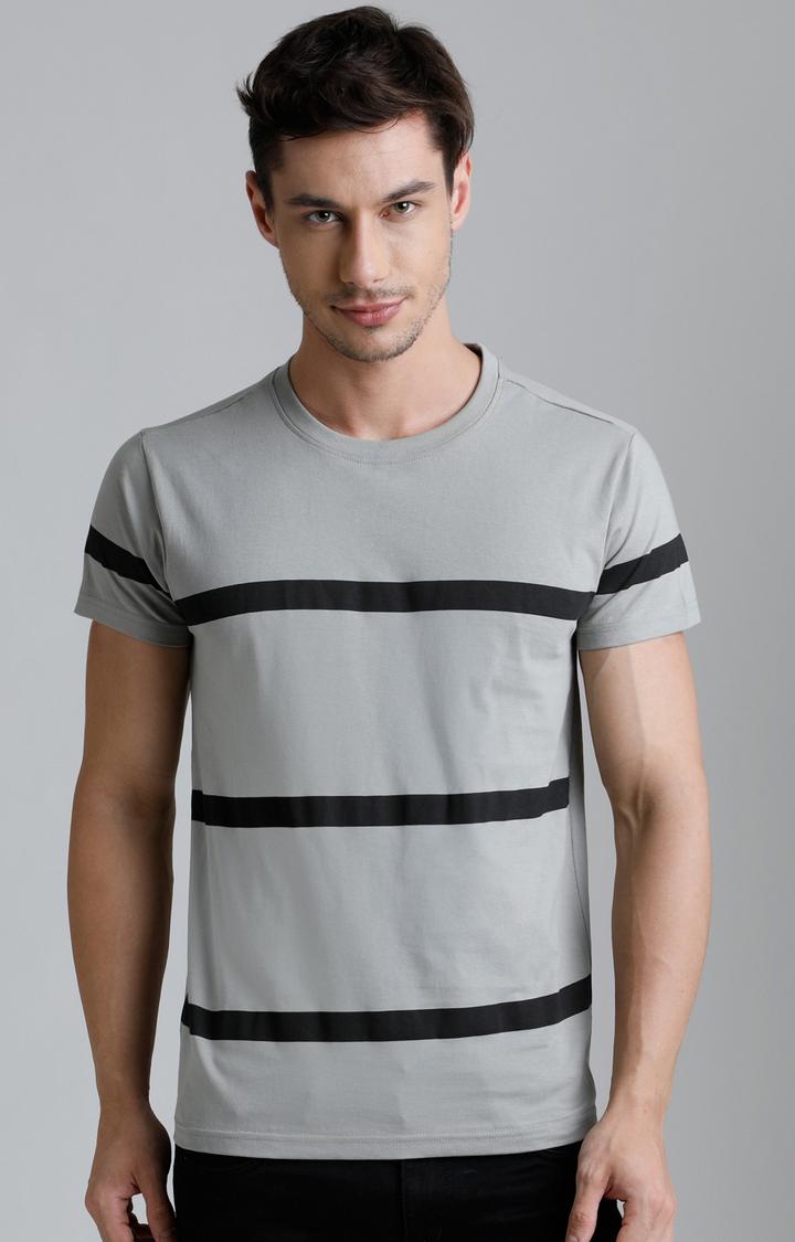 Dillinger   Grey Striped T-Shirt