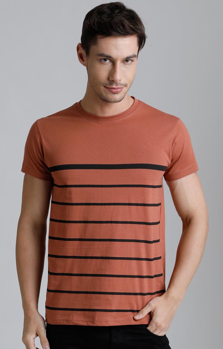 Dillinger | Brown Striped T-Shirt