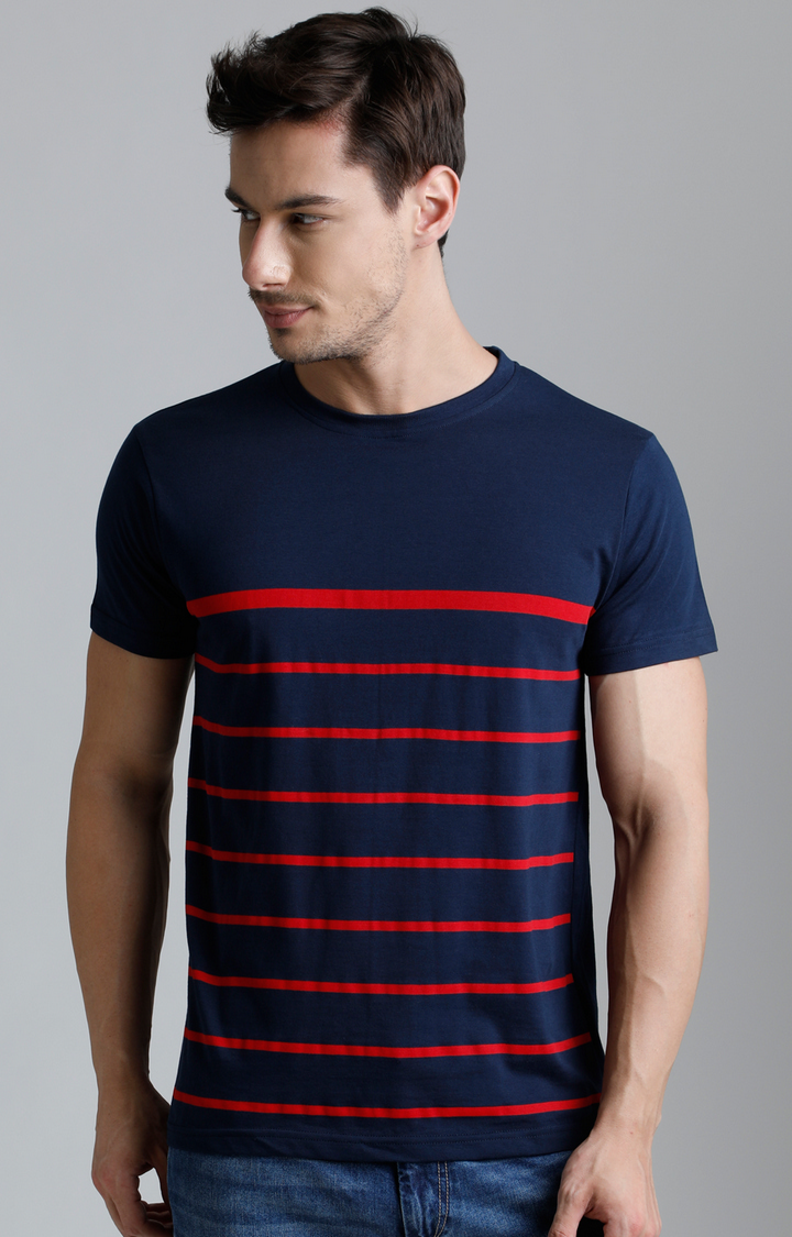 Dillinger | Navy Blue Striped T-Shirt