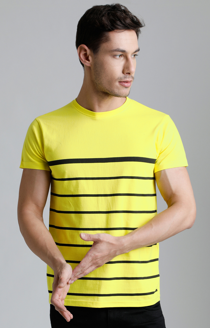 Dillinger | Yellow Striped T-Shirt