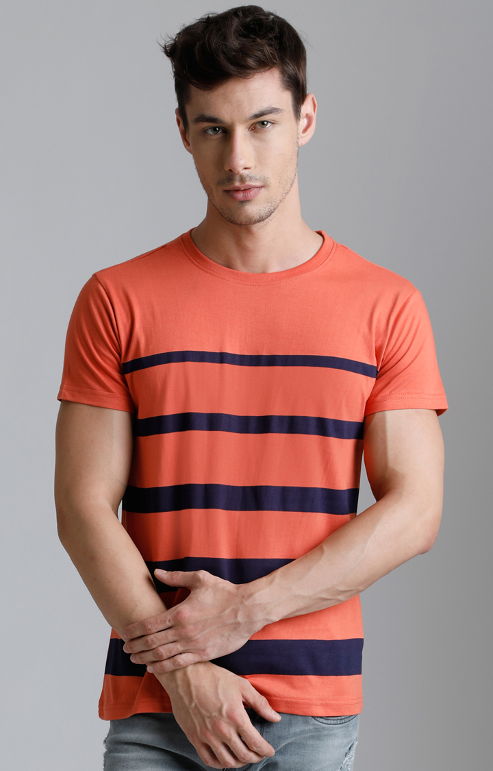 Dillinger | Coral Striped T-Shirt