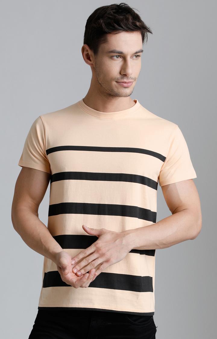 Dillinger | Light Orange Striped T-Shirt