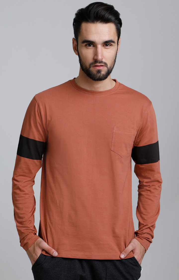 Dillinger | Brown Solid T-Shirt