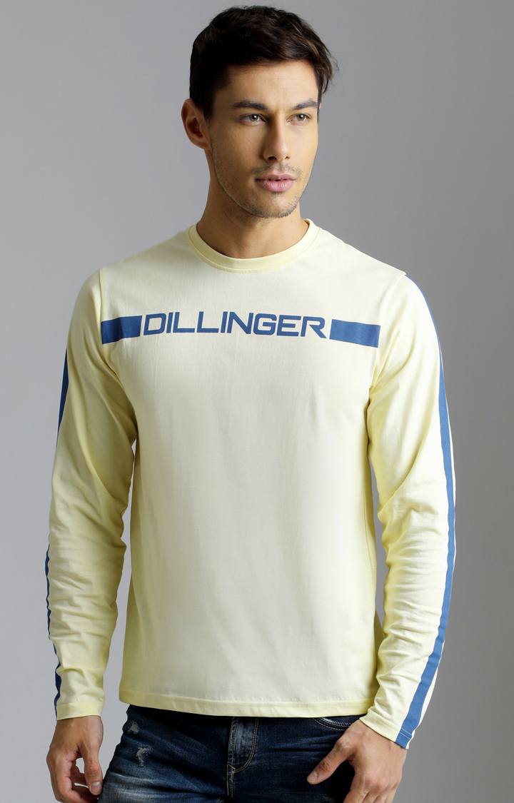 Dillinger | Yellow Printed T-Shirt