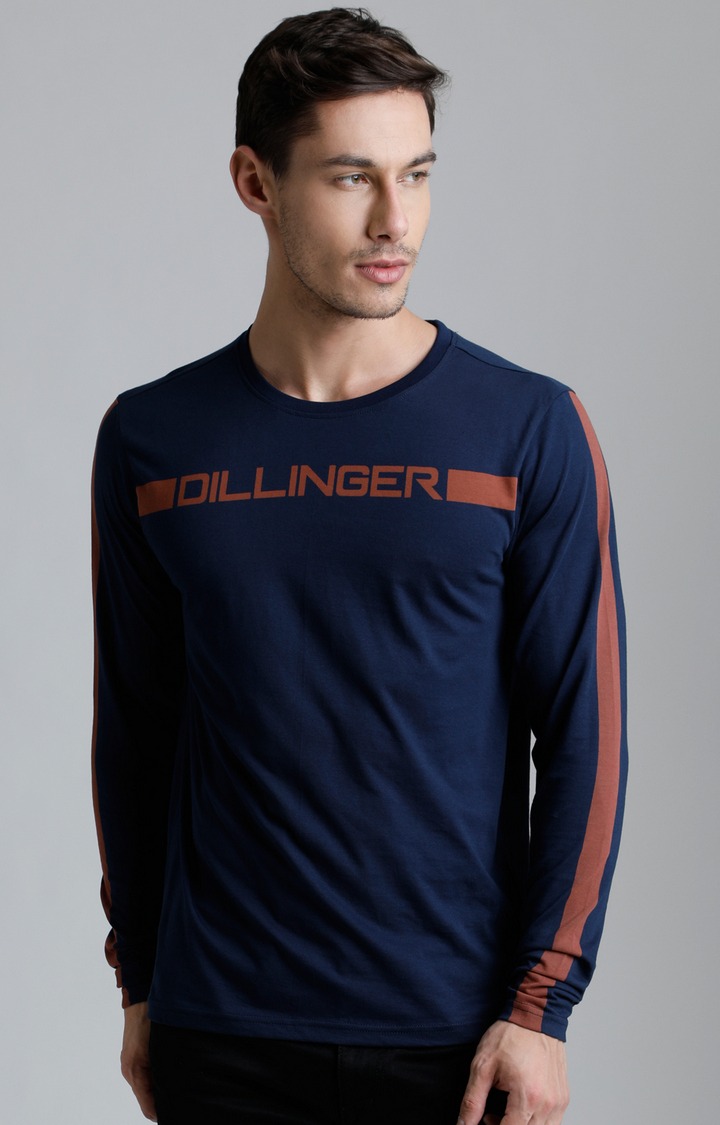 Dillinger | Navy Blue Printed T-Shirt