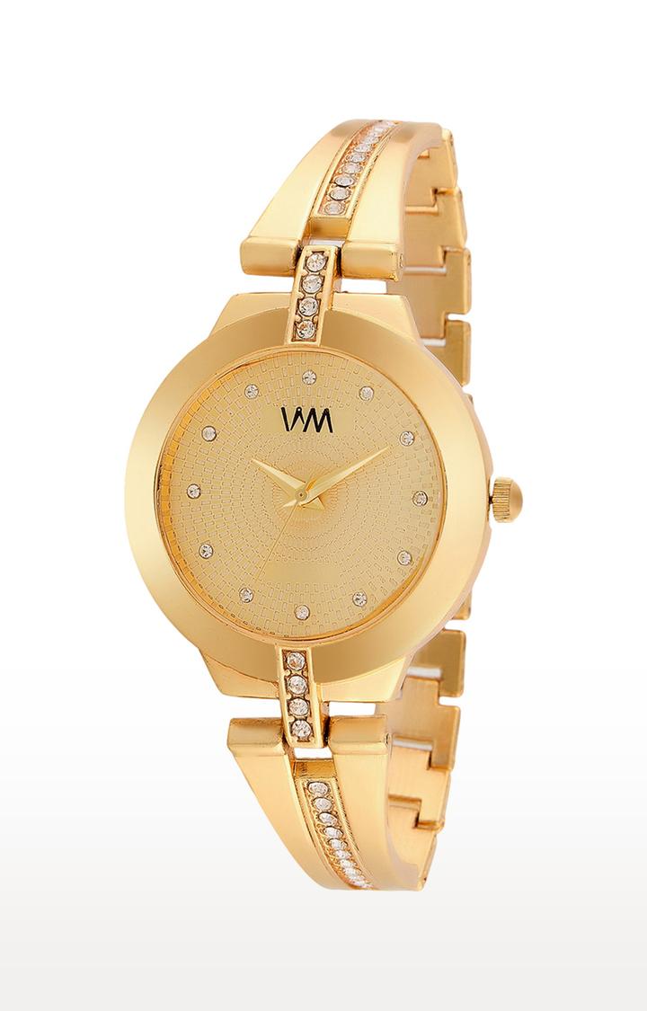 Watch Me | Watch Me Gold Analog Watch For Women