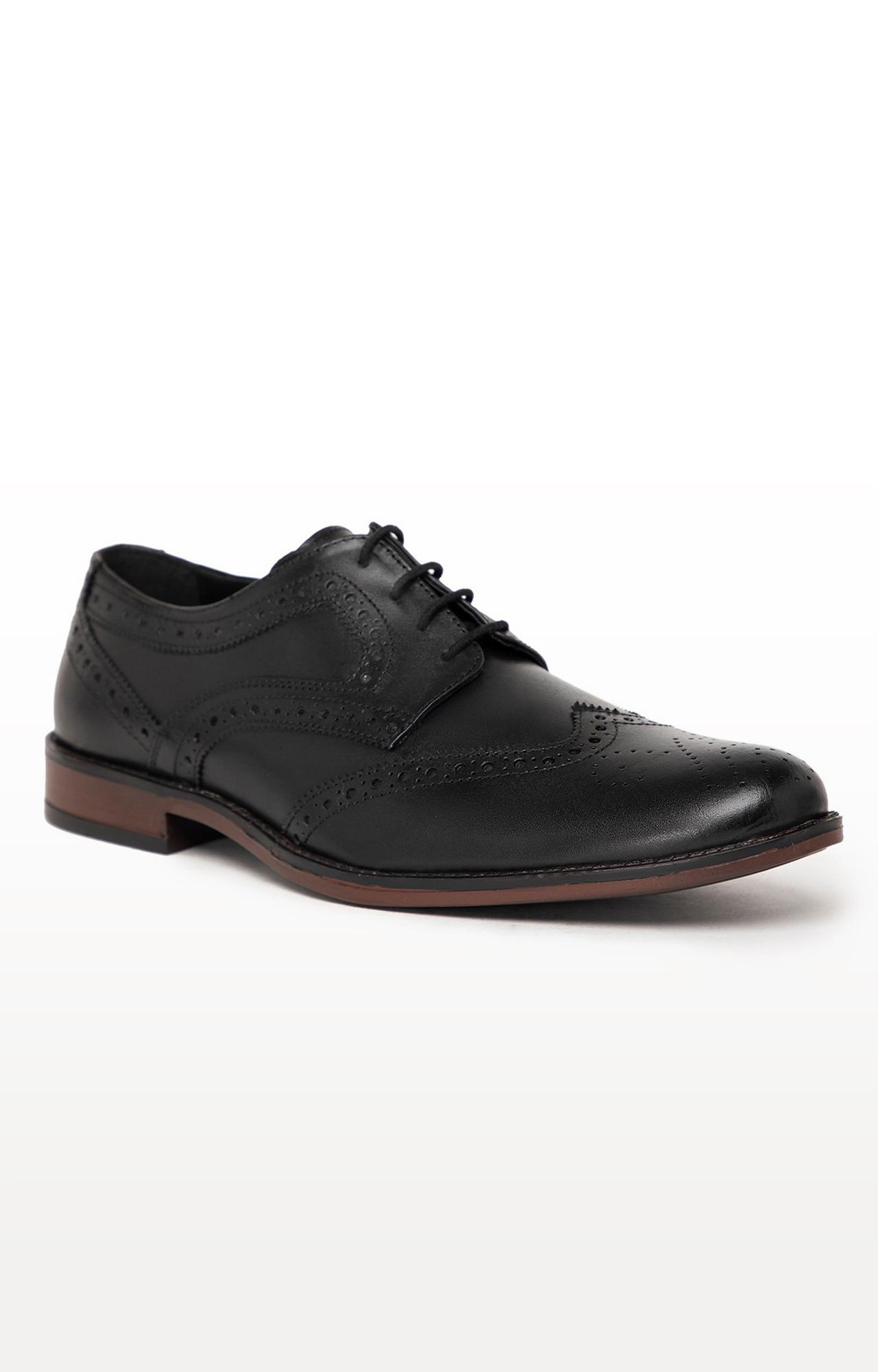 Noble Curve   Black Derby Brogues Shoes