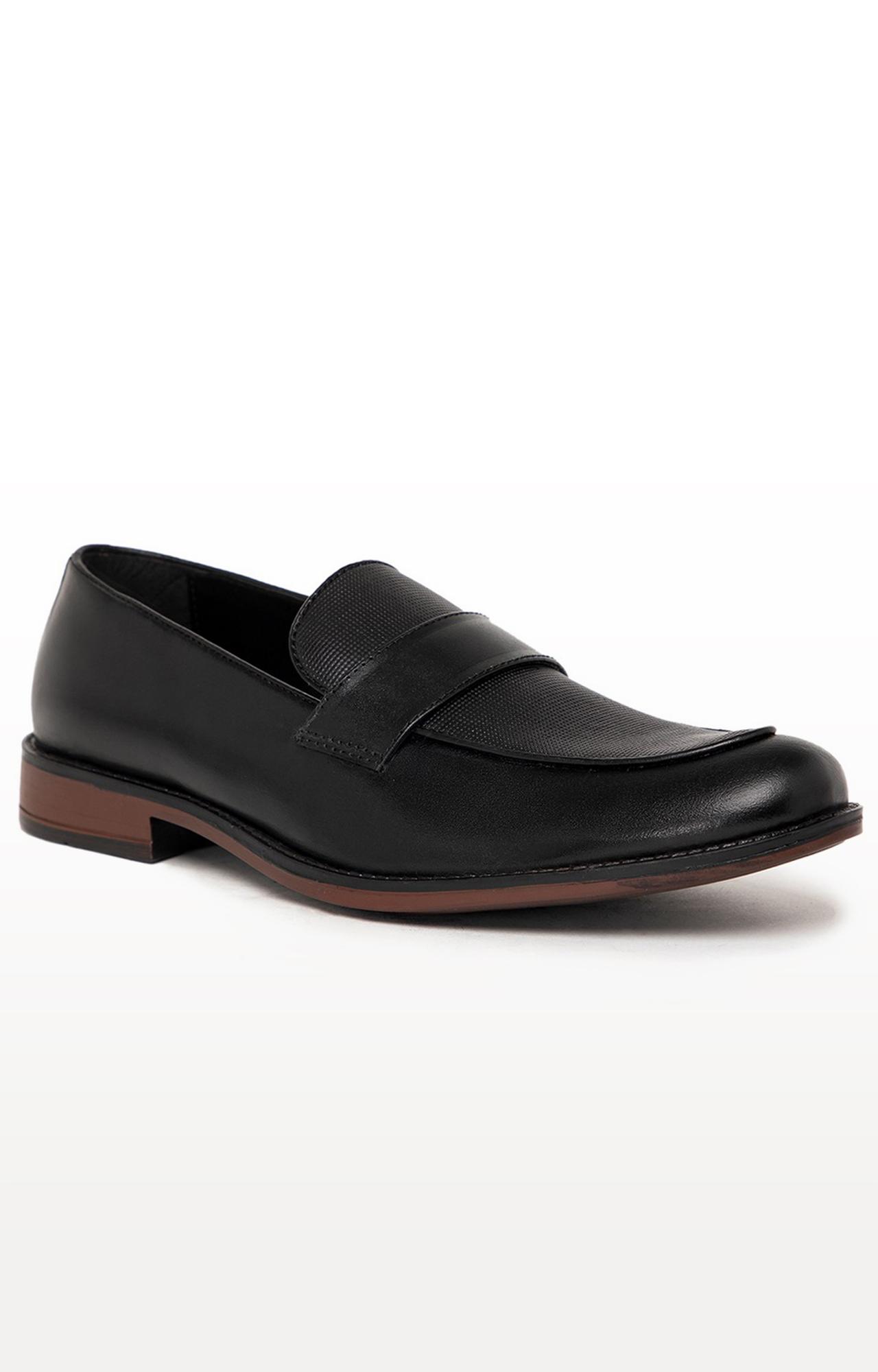 Noble Curve | Black Formal Loafers