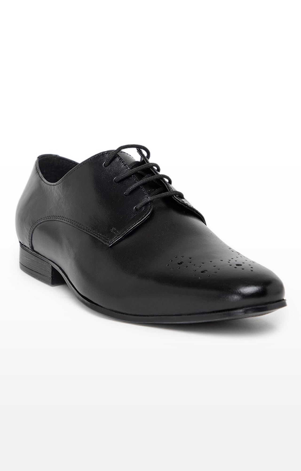 Noble Curve   Black Derby Shoes