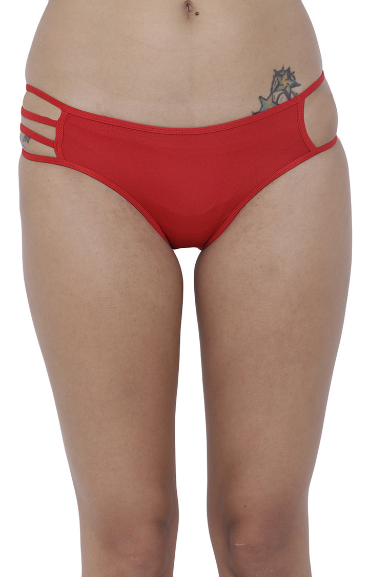 BASIICS by La Intimo | Red Solid Hipster Panties