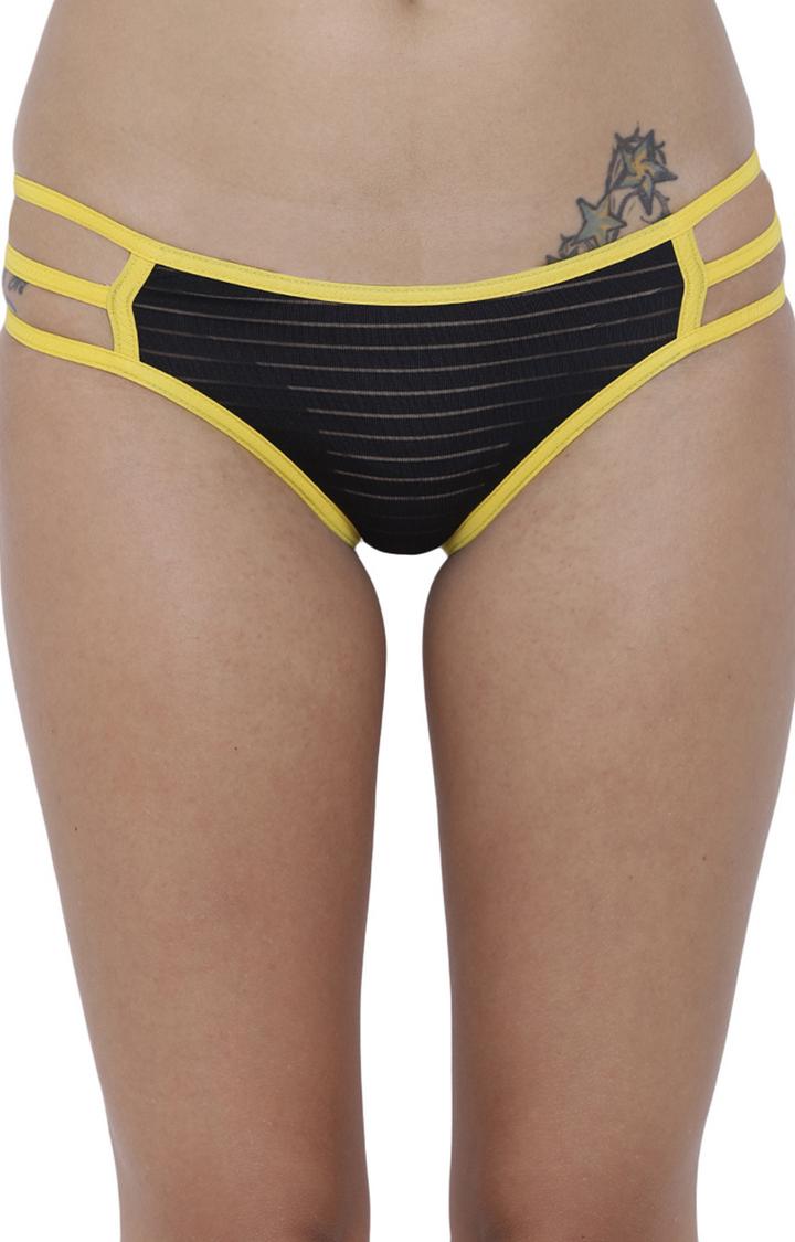 BASIICS by La Intimo | Black Striped Bikini Panty