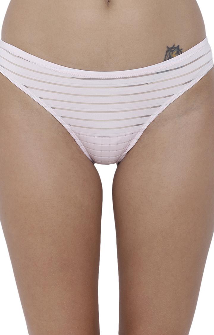 BASIICS by La Intimo | Pink Striped Bikini Panty