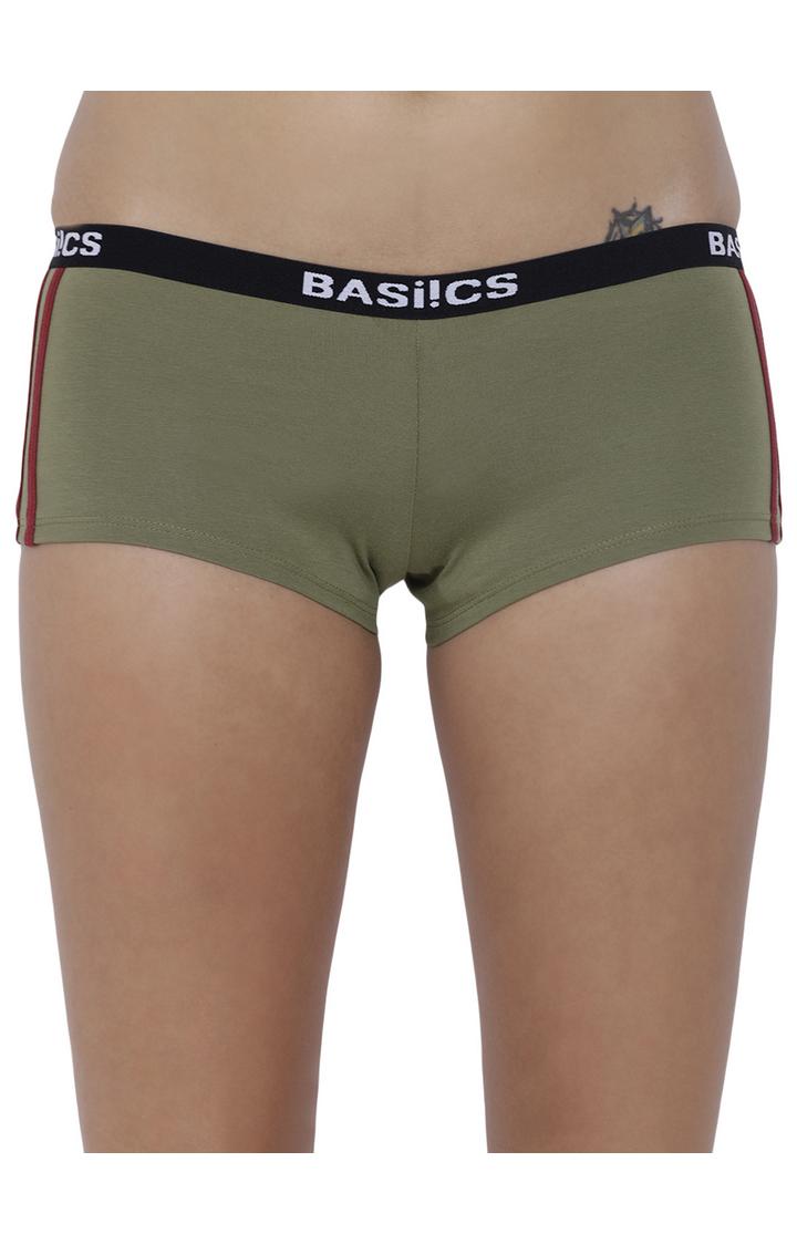 BASIICS by La Intimo | Olive Solid Boyshorts