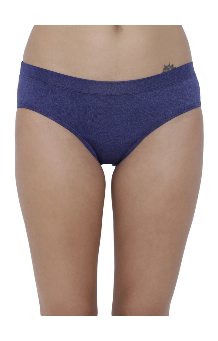 BASIICS by La Intimo | Blue Solid Hipster Panties