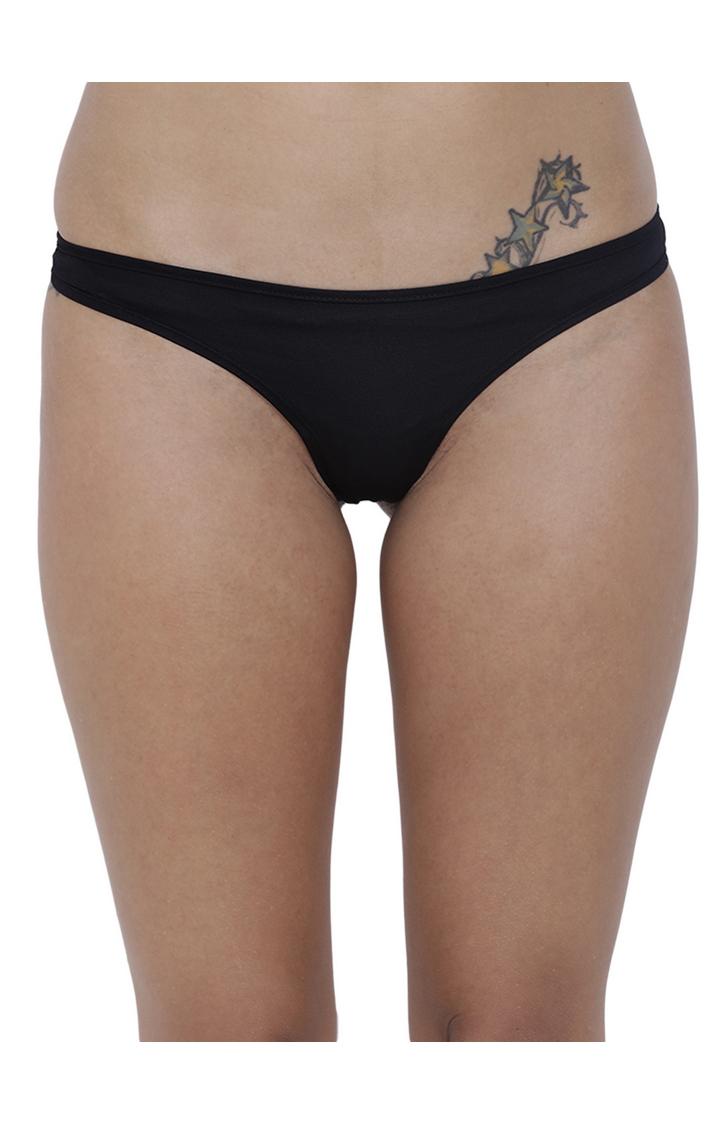 BASIICS by La Intimo | Black Solid Thongs