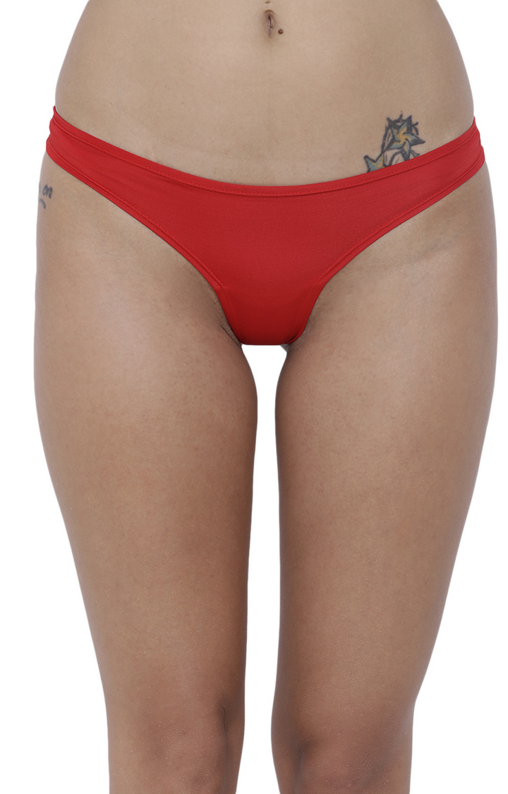 Red Solid Thongs