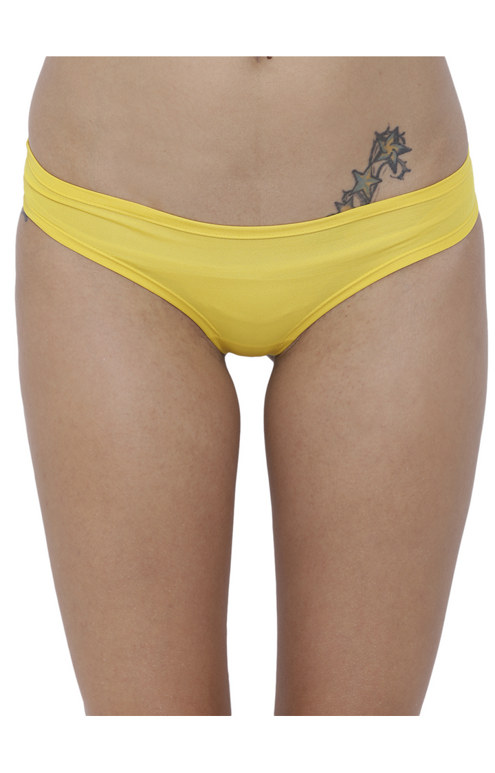 BASIICS by La Intimo | Yellow Solid Hipster Panties - Pack of 2