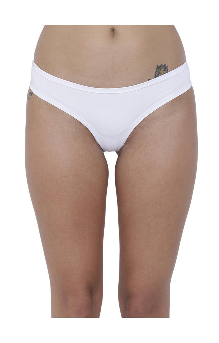 BASIICS by La Intimo | White Solid Bikini Panty