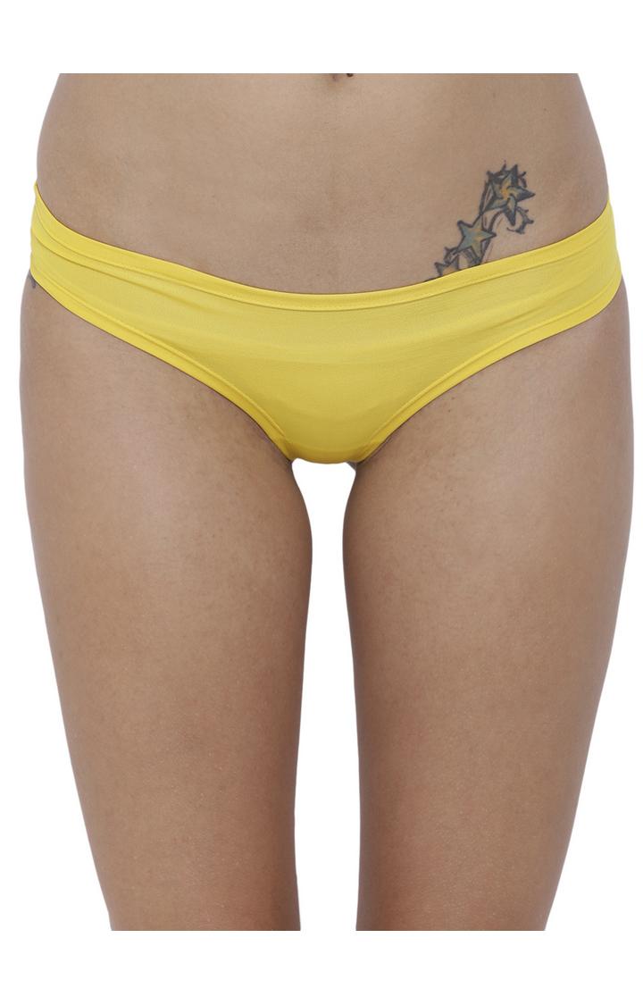BASIICS by La Intimo | Yellow Solid Bikini Panty
