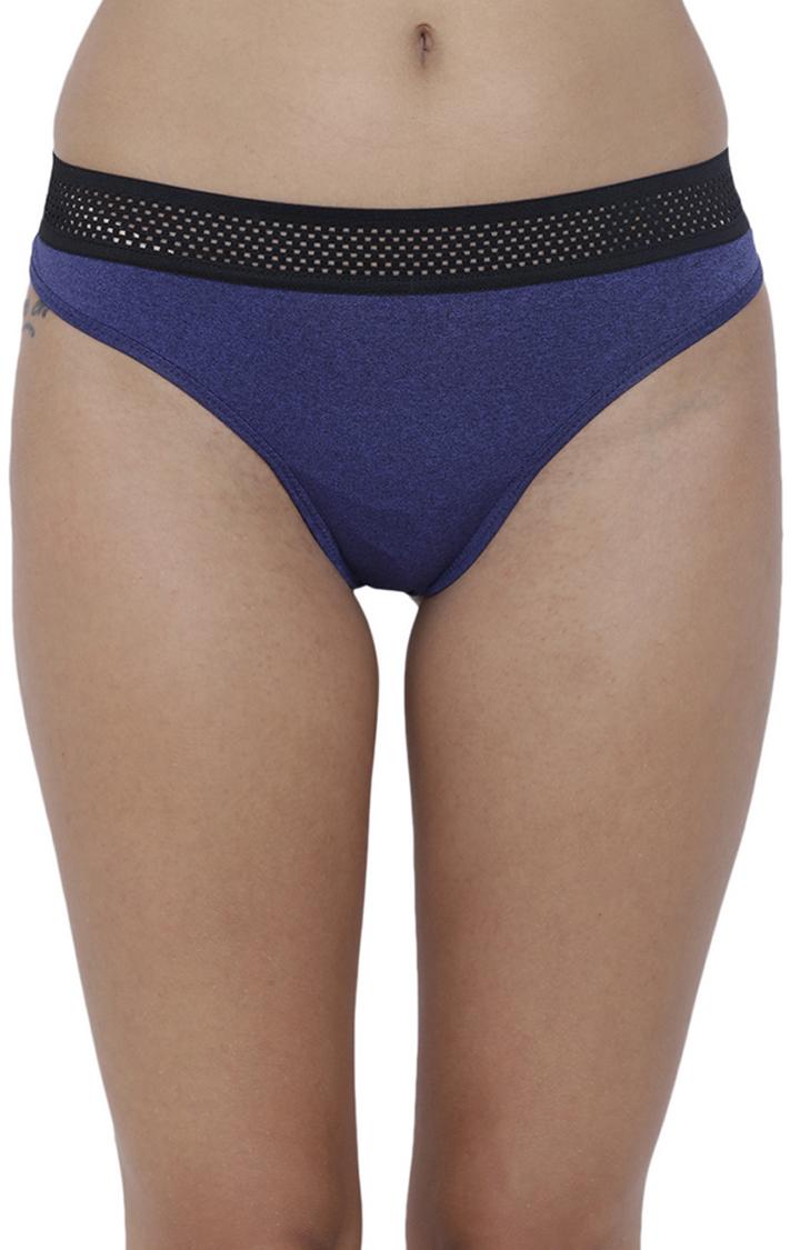 BASIICS by La Intimo | Blue Solid Thongs