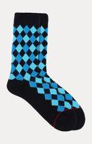 Blue Checked Socks