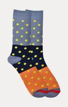 Blue and Orange Printed Socks