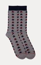 Grey Printed Socks