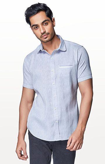 EVOQ | Grey Solid Casual Shirt