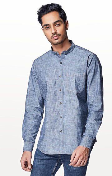 EVOQ | Blue Checked Casual Shirt