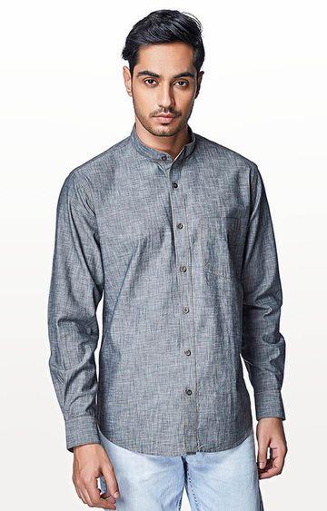 EVOQ | Grey Checked Casual Shirt