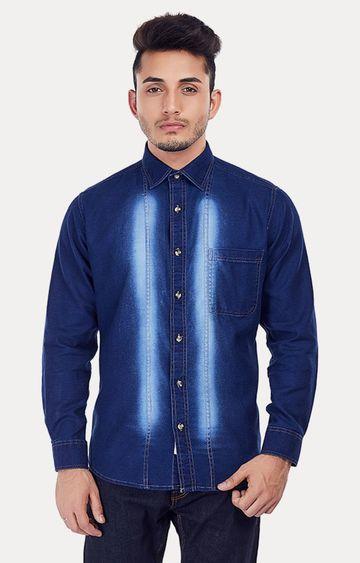EVOQ | Blue Solid Casual Shirt