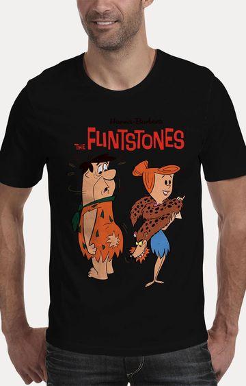 We The Chic | Black The Flintstones Printed T-Shirt