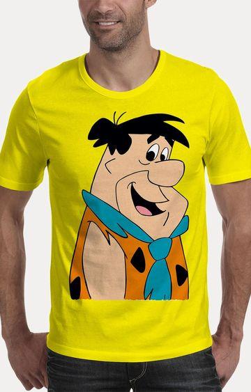We The Chic | Yellow The Flintstones Printed T-Shirt