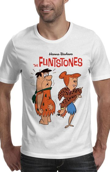 We The Chic | White The Flintstones Printed T-Shirt