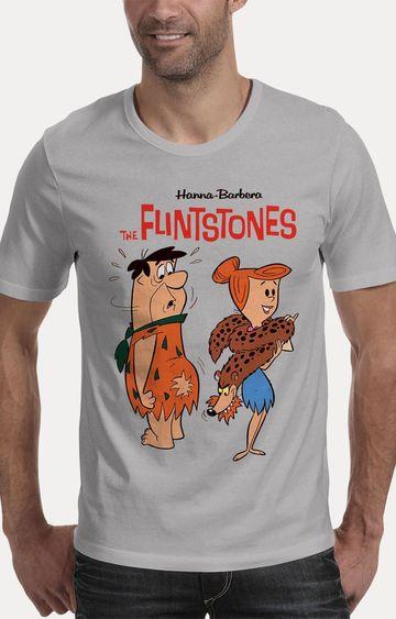 We The Chic | Grey The Flintstones Printed T-Shirt