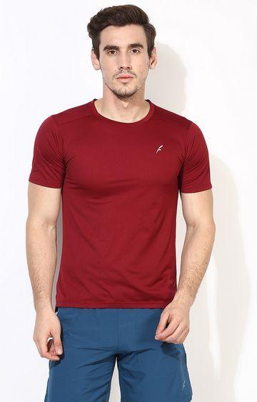 Furo | Maroon Solid T-Shirt