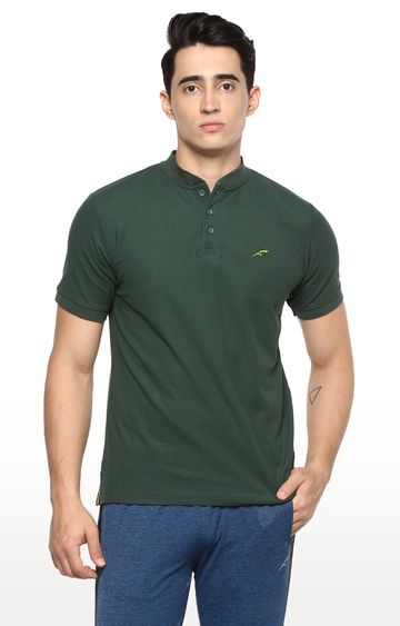 Furo | Dark Green Solid T-Shirt